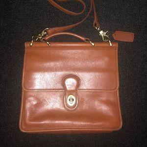 Vintage coach leather bag crossbody bag